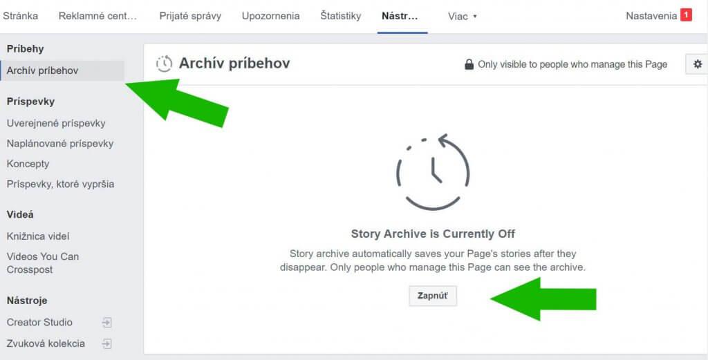 facebook story archiv pribehov